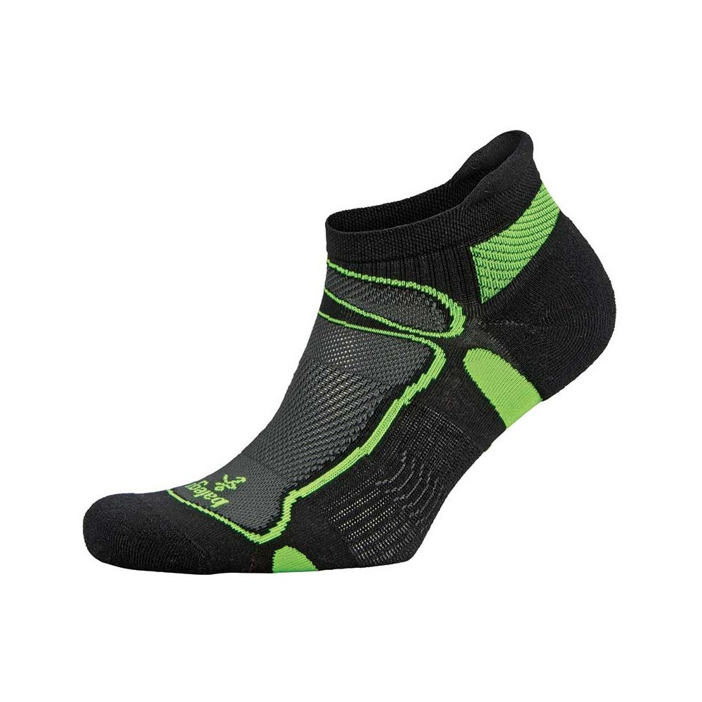 balega ultralight no show socks zielono-czarne