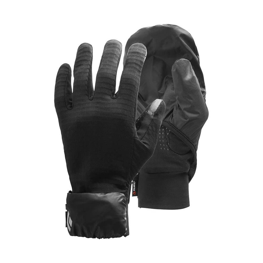 black diamond wind hood gridtech gloves czarne