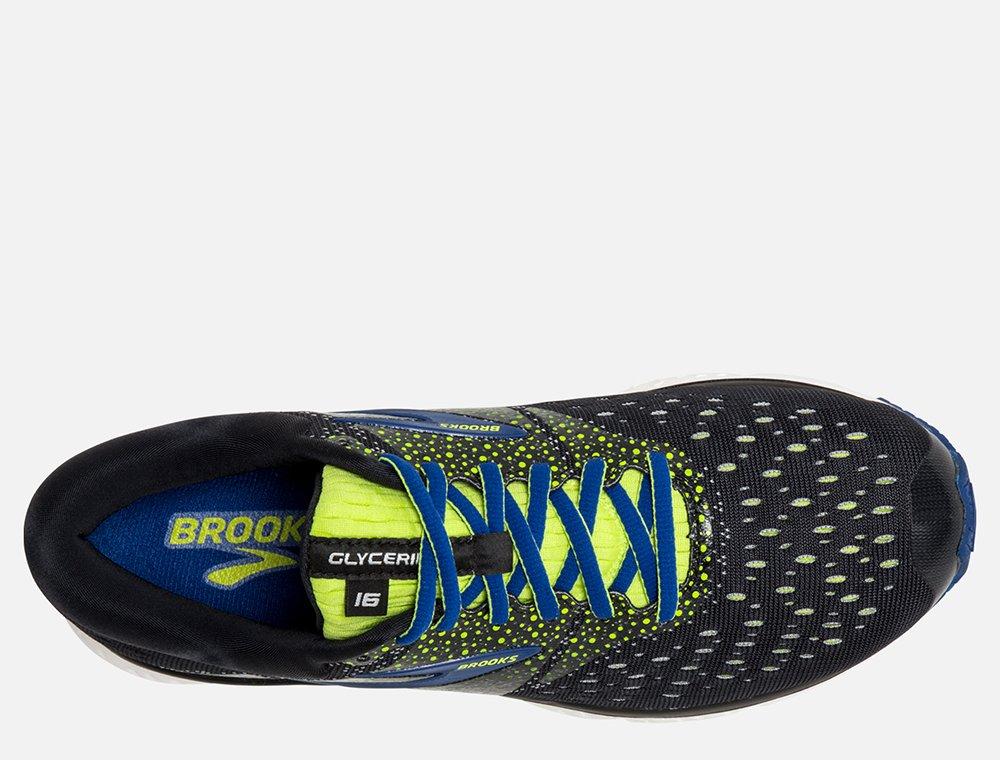 brooks glycerin 16 m niebiesko-czarne