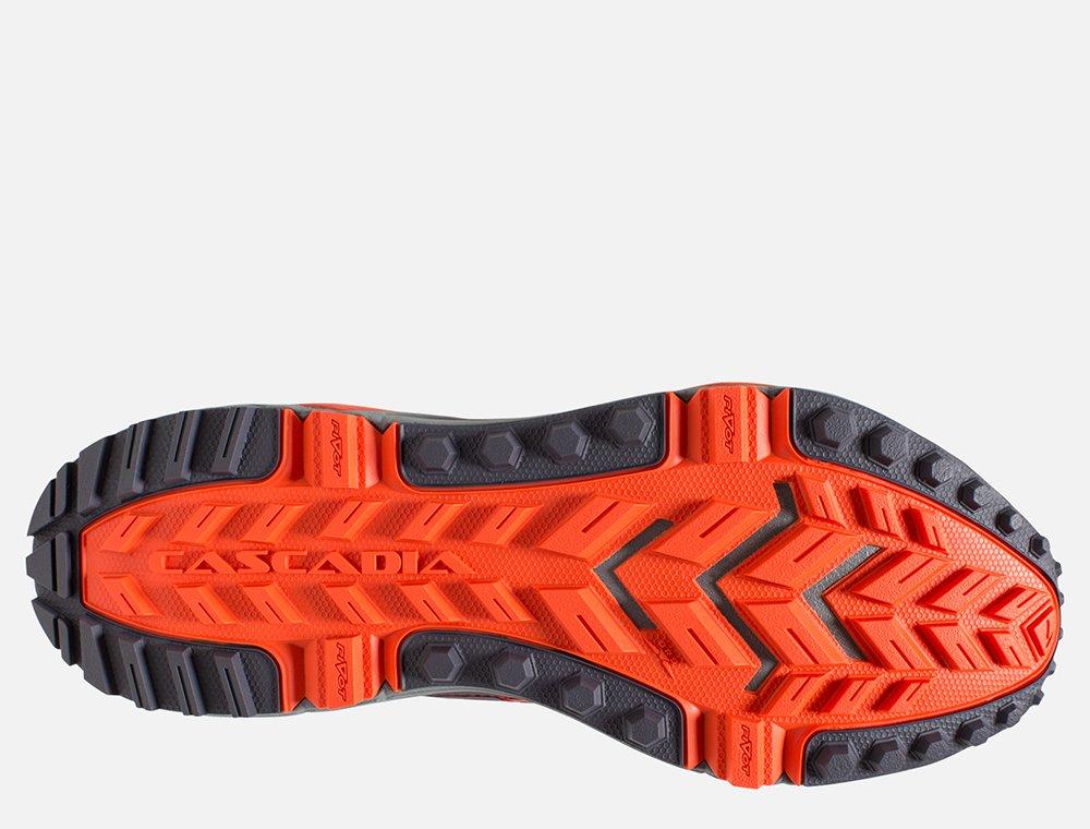 brooks cascadia 13 m pomarańczowo-czerwone