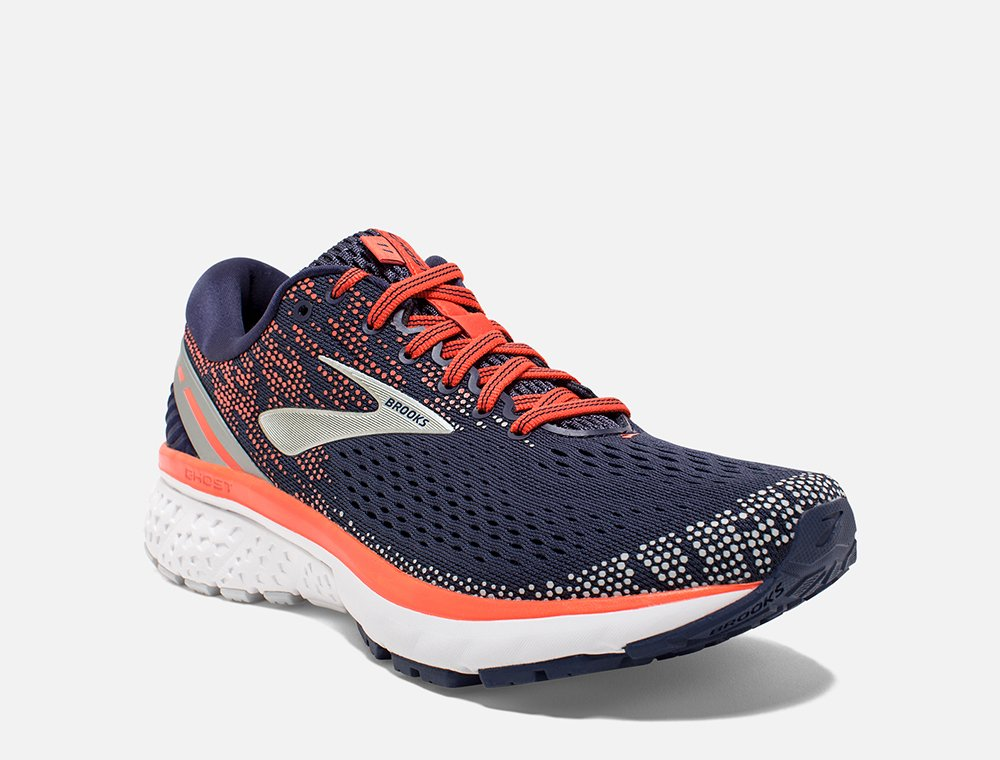brooks ghost 11 w koralowo-granatowe