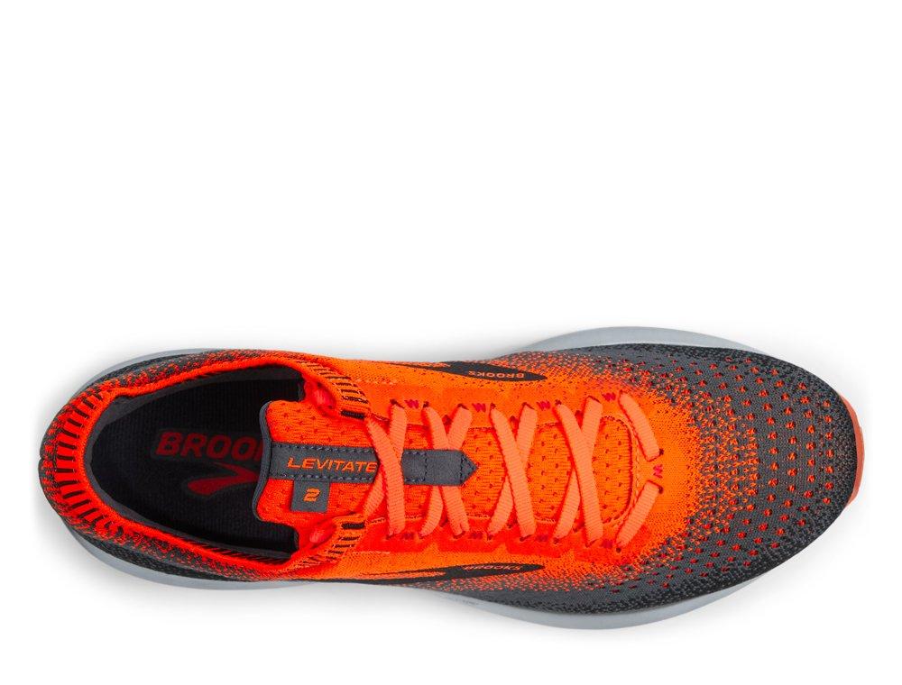 brooks levitate 2 m czarno-pomarańczowe