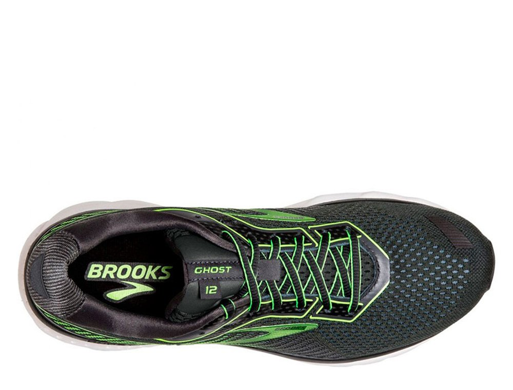 brooks ghost 12 m czarno-zielony