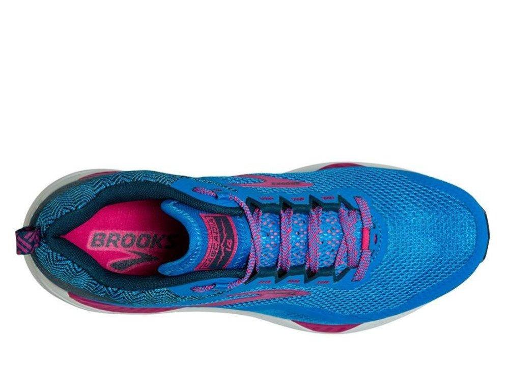 brooks cascadia 14 w niebiesko-różowe