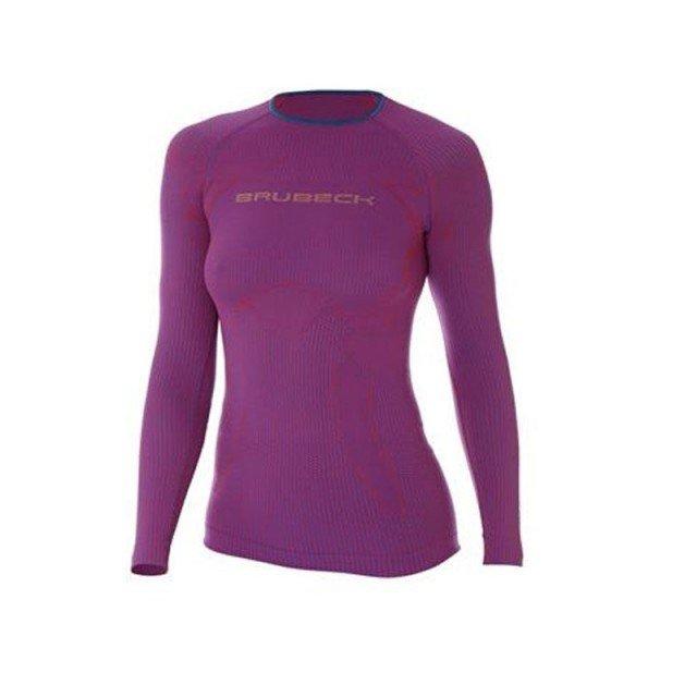 brubeck 3d run pro longsleeve purpurowy