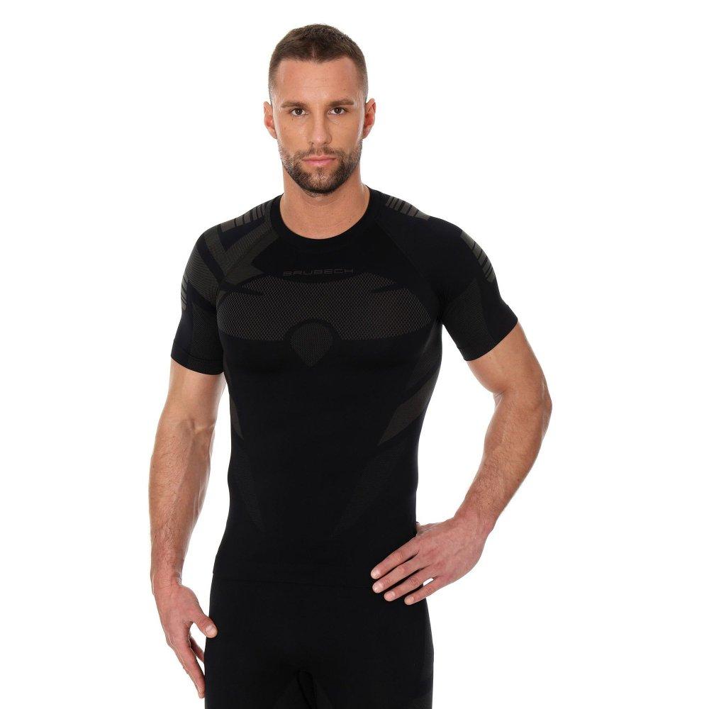 brubeck koszulka dry ss grafit/czarny