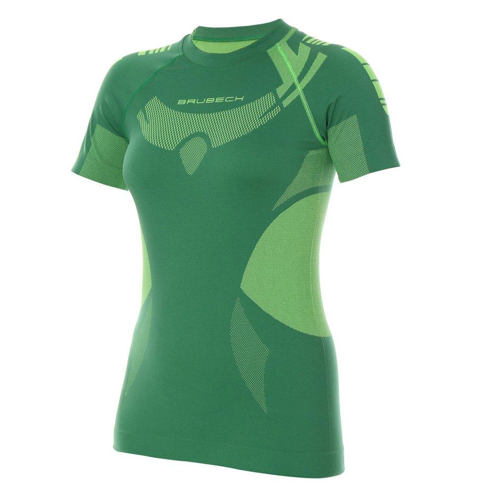 brubeck koszulka dry ss zielony/limonka