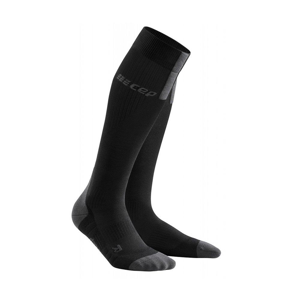 cep run compression socks 3.0 m szaro-czarne