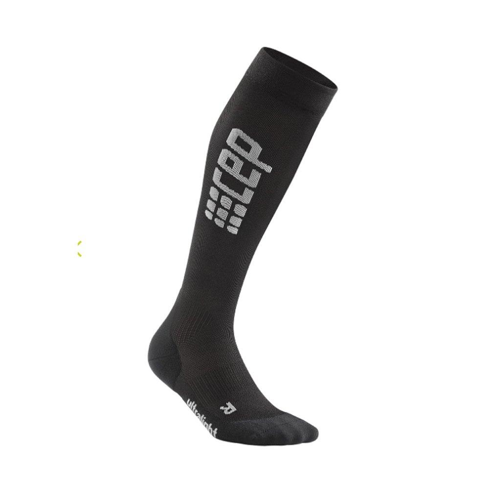 cep run ultralight socks w szaro-czarne