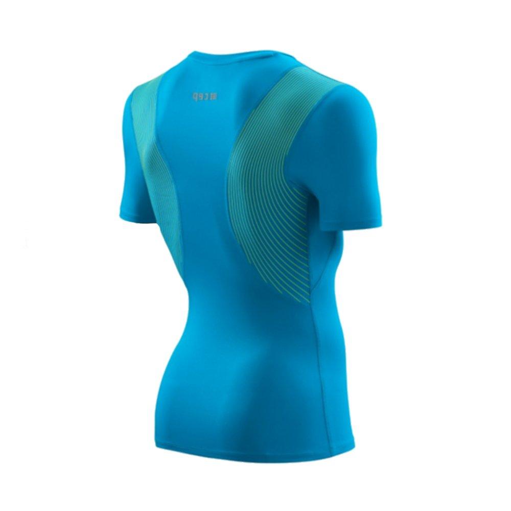 cep wingtech shirt short sleeve m niebieska