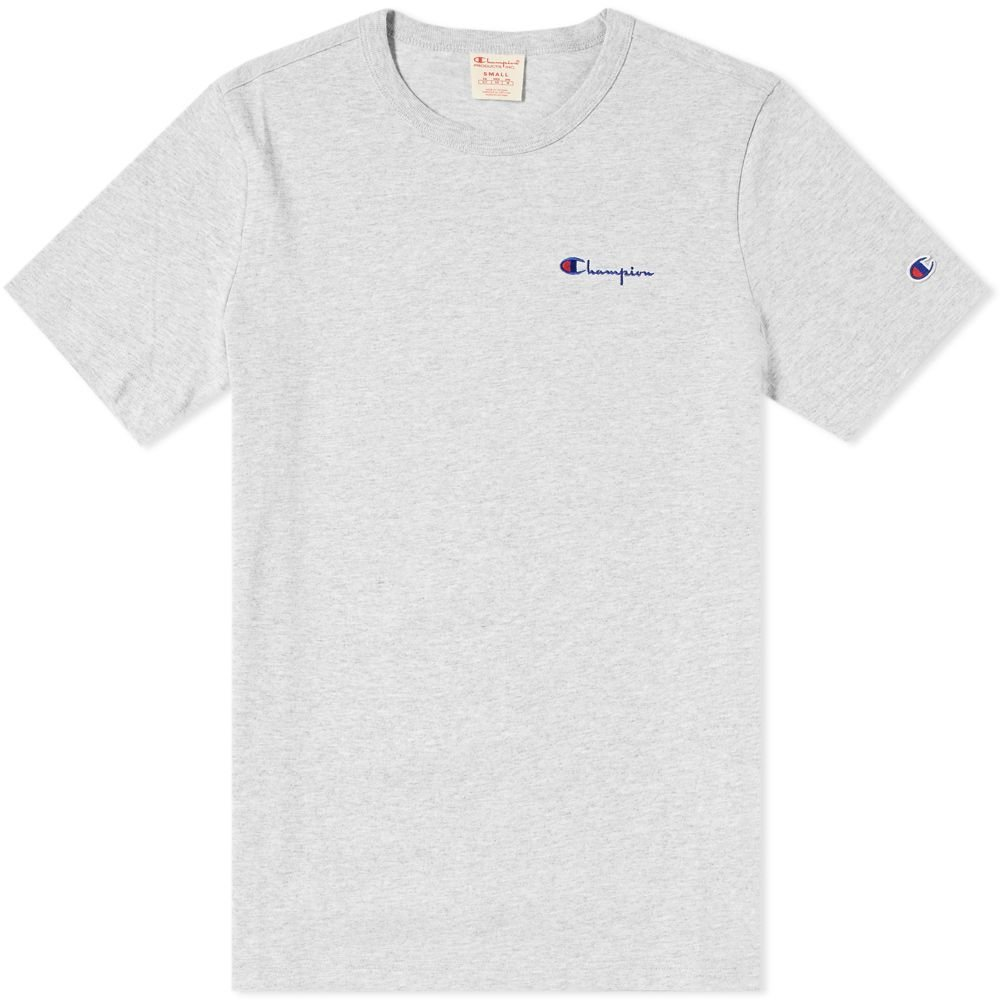 champion small script logo t-shirt (211985-em004)