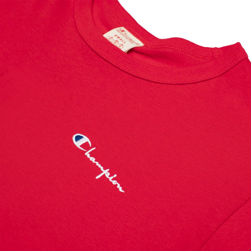 champion small script logo t-shirt (211985-rs017)