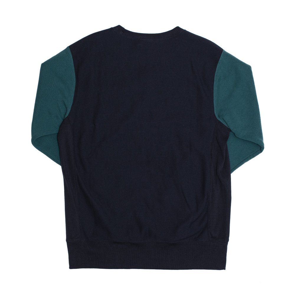 champion colour block kangaroo pocket reverse weave sweatshirt (214049-bs501)