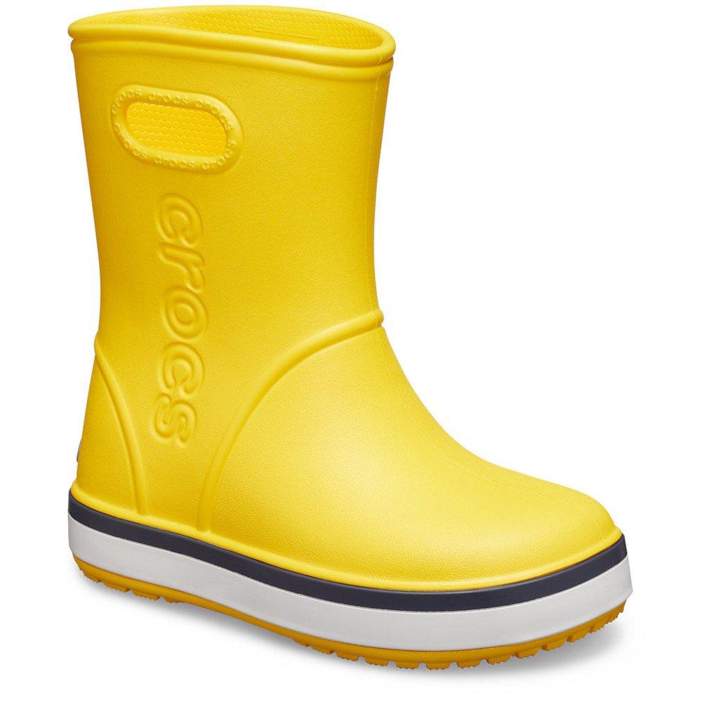 crocs crocband rain boot kids żółto-białe