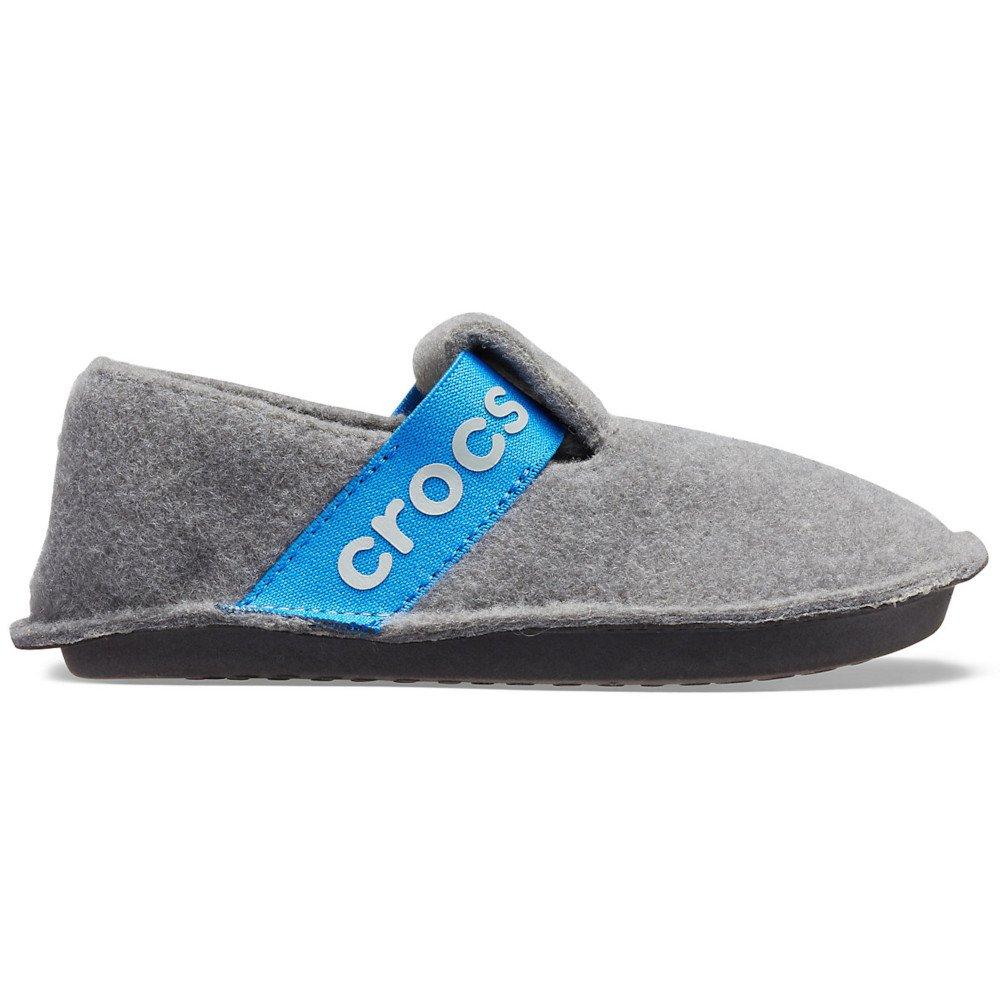 crocs kids classic slipper szaro-niebieskie