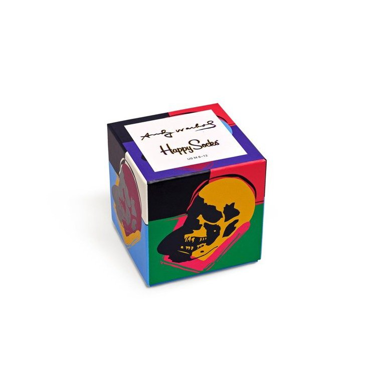 giftbox 3pak skarpetki happy socks x andy warhol