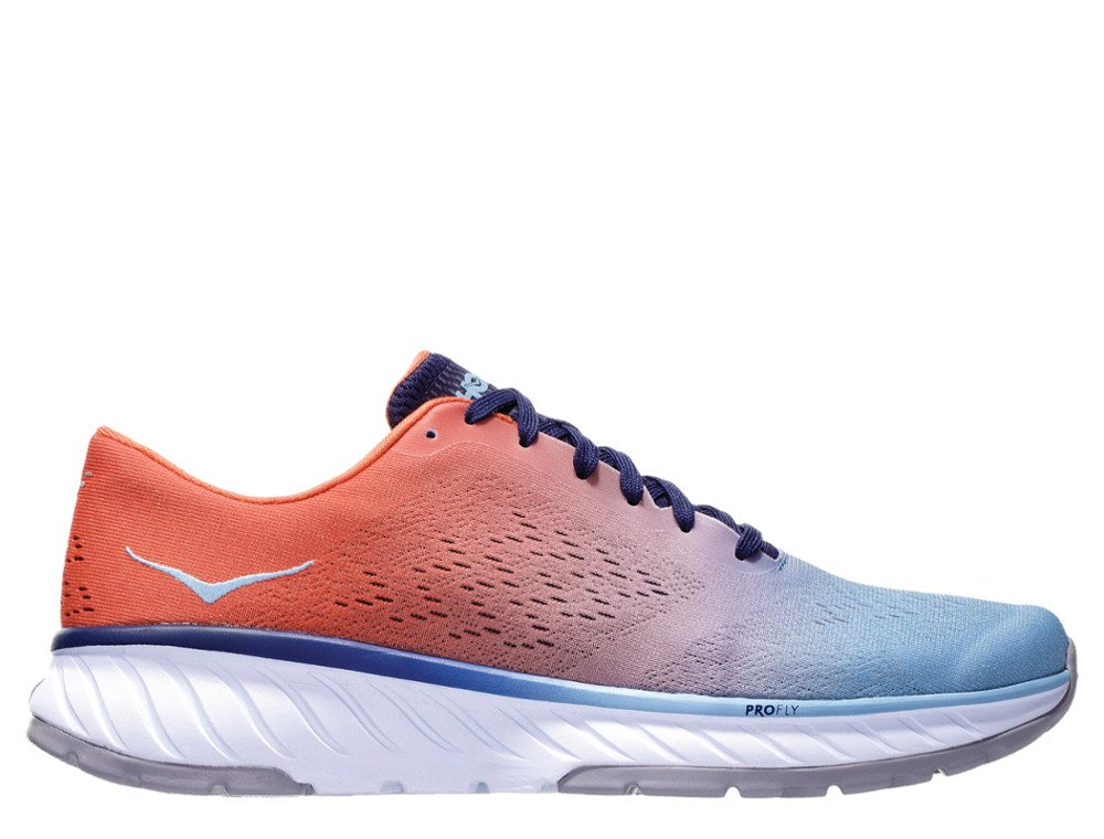 hoka cavu 2 versatile sneaker m czerwono-błękitne