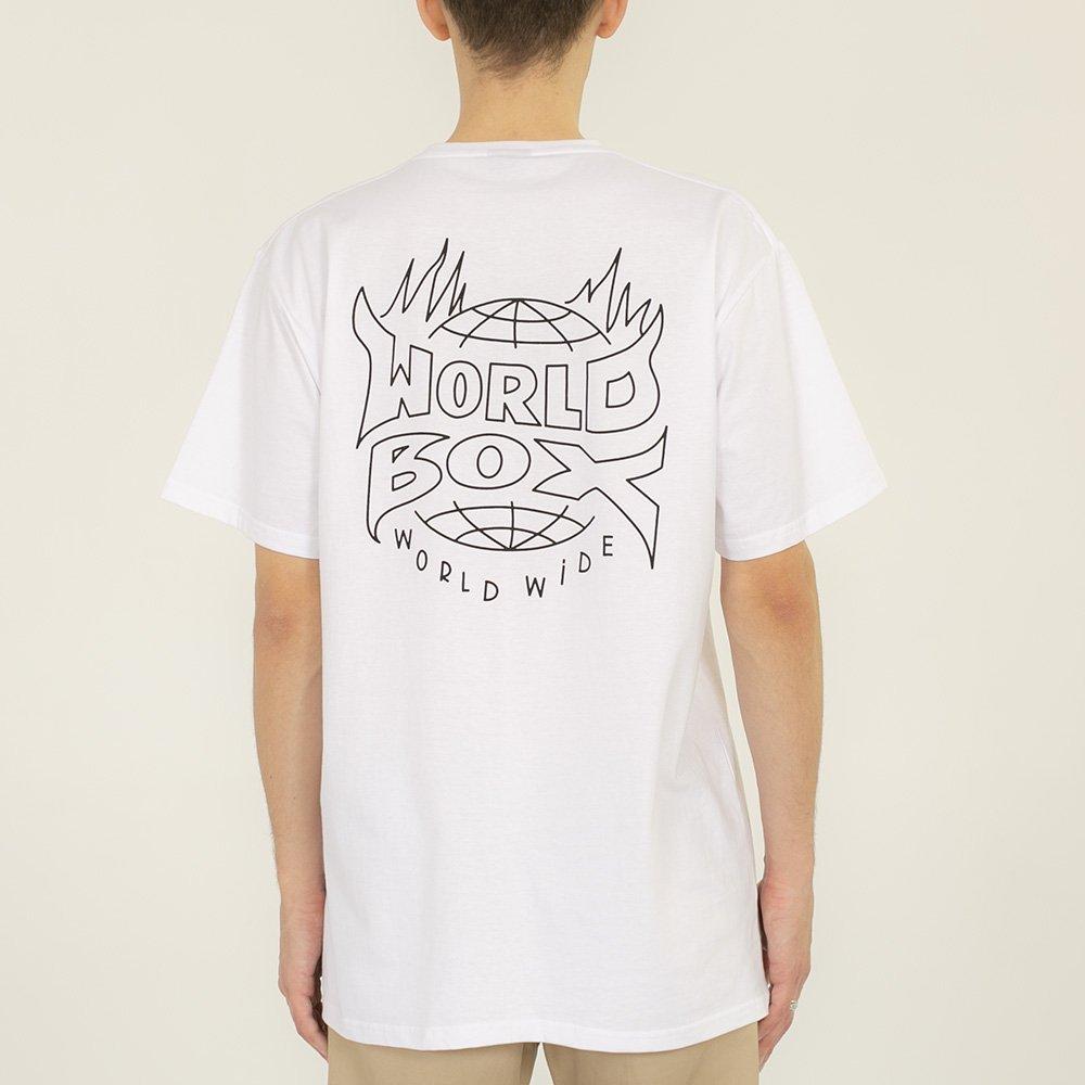 worldbox white flame tee (wbko-flame-wht)