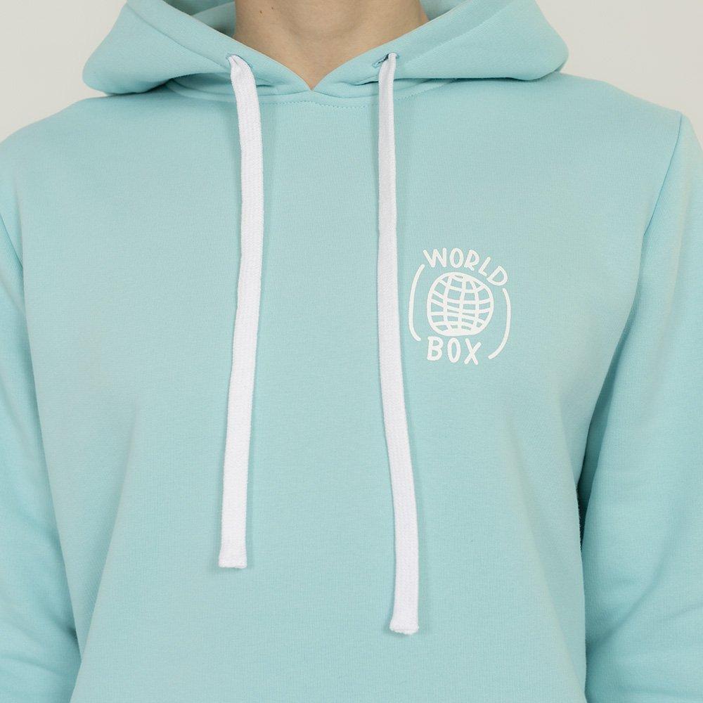 worldbox aquamarine box hoodie (wbbl-world-blu)