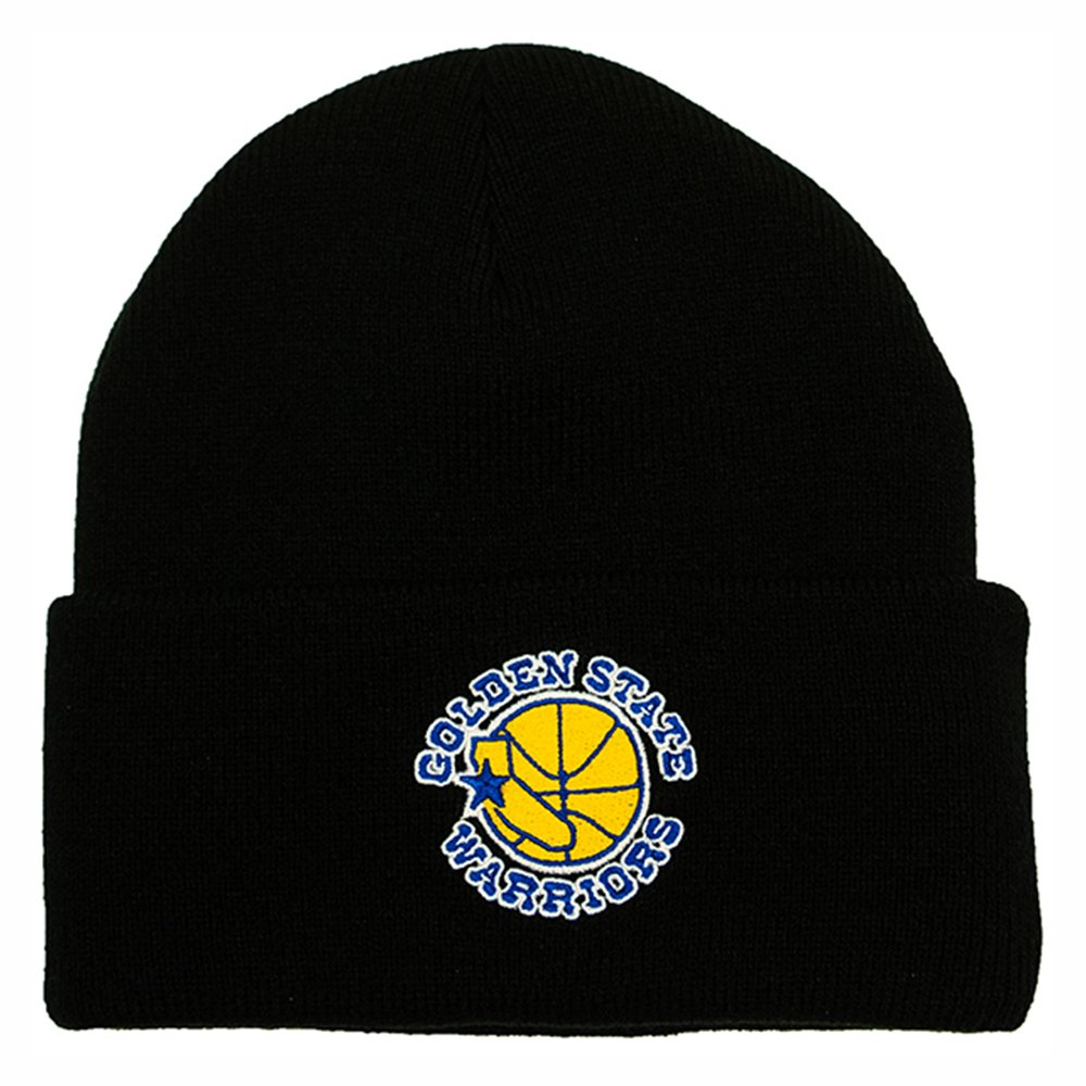 mitchell ness team logo cuff knit golden state warriors black (intl534-golwar-blk)