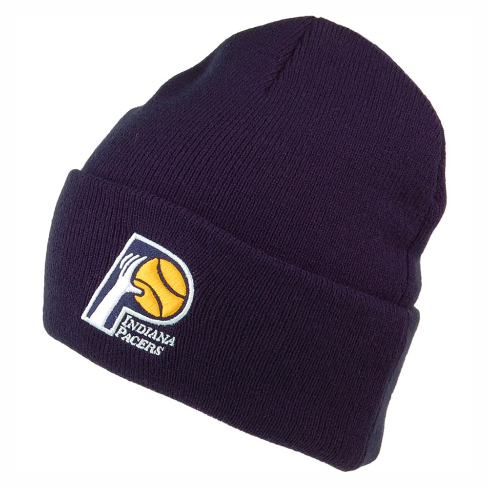 mitchell & ness team logo cuff knit indiana pacers navy (intl534-indpac-nvy)
