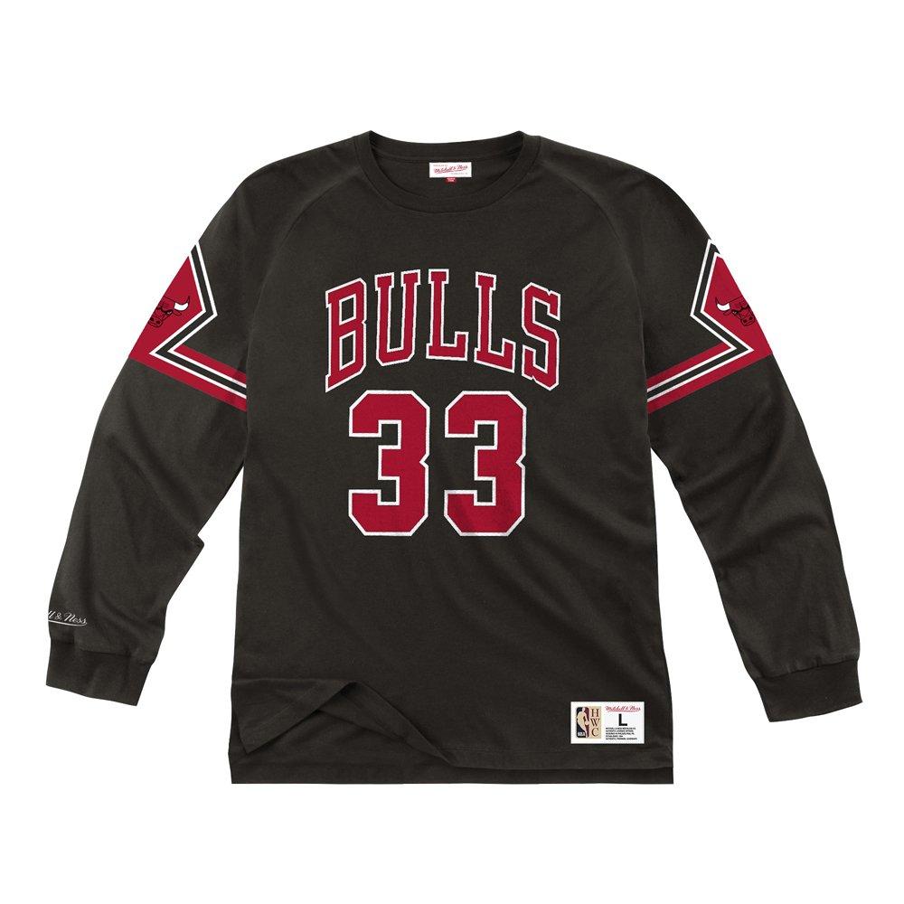 mitchell & ness longsleeve chicago bulls- scottie pippen #33 (nnlsmg18149-cbublck9)