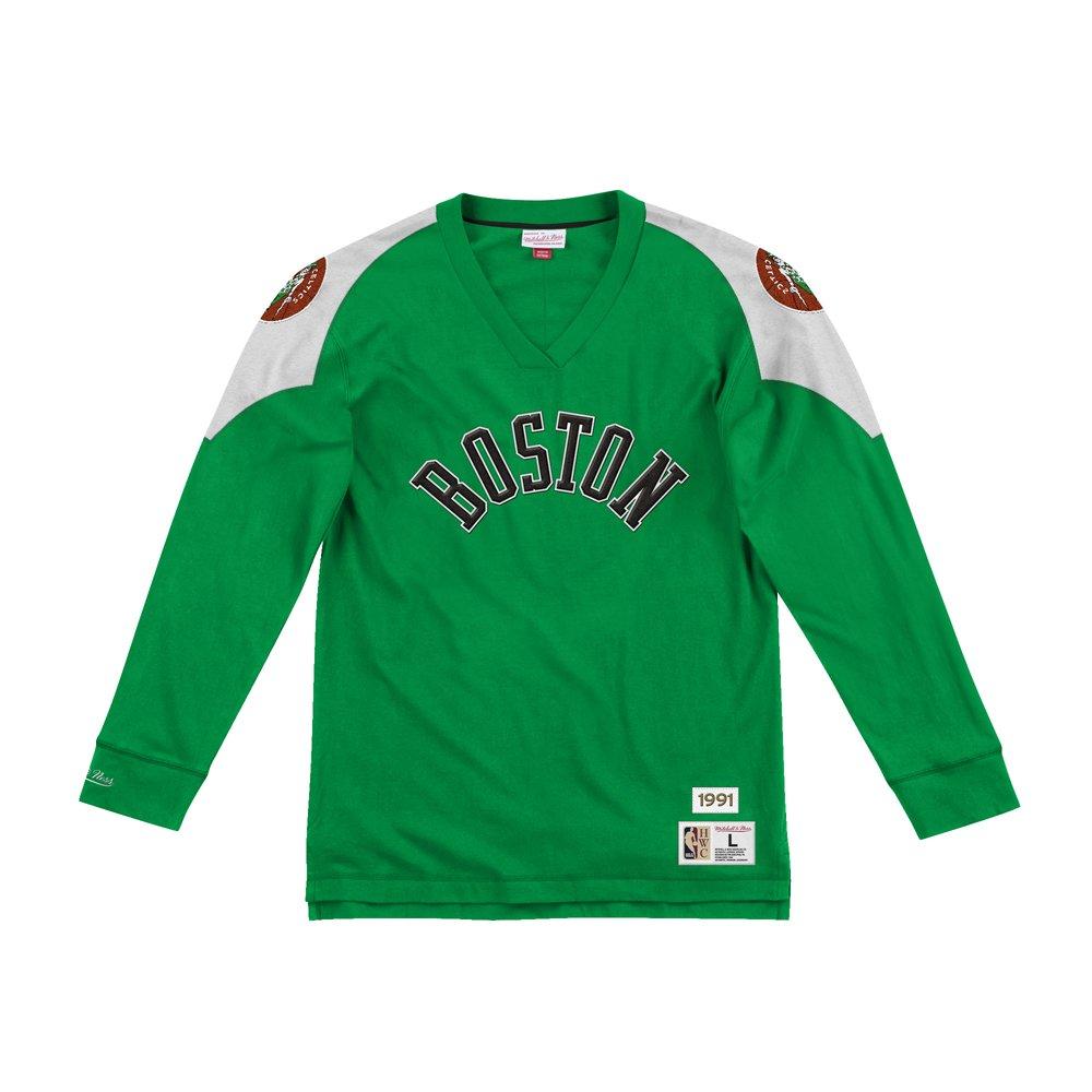 mitchell & ness team inspired longsleeve boston celtics  (lnsldf18022-bcekygn)