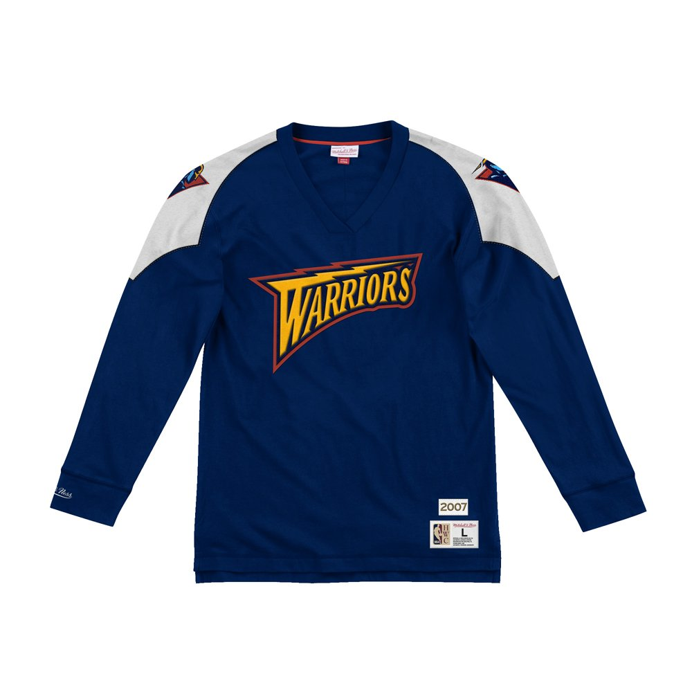 mitchell & ness team inspired longsleeve golden state warriors (lnsldf18022-gswnavy)