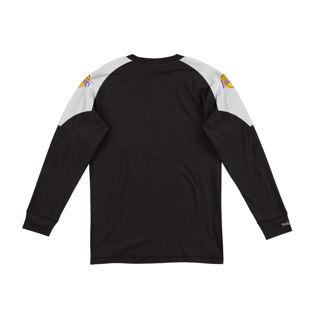 mitchell & ness team inspired longsleeve los angeles lakers (lnsldf18022-lalblck)