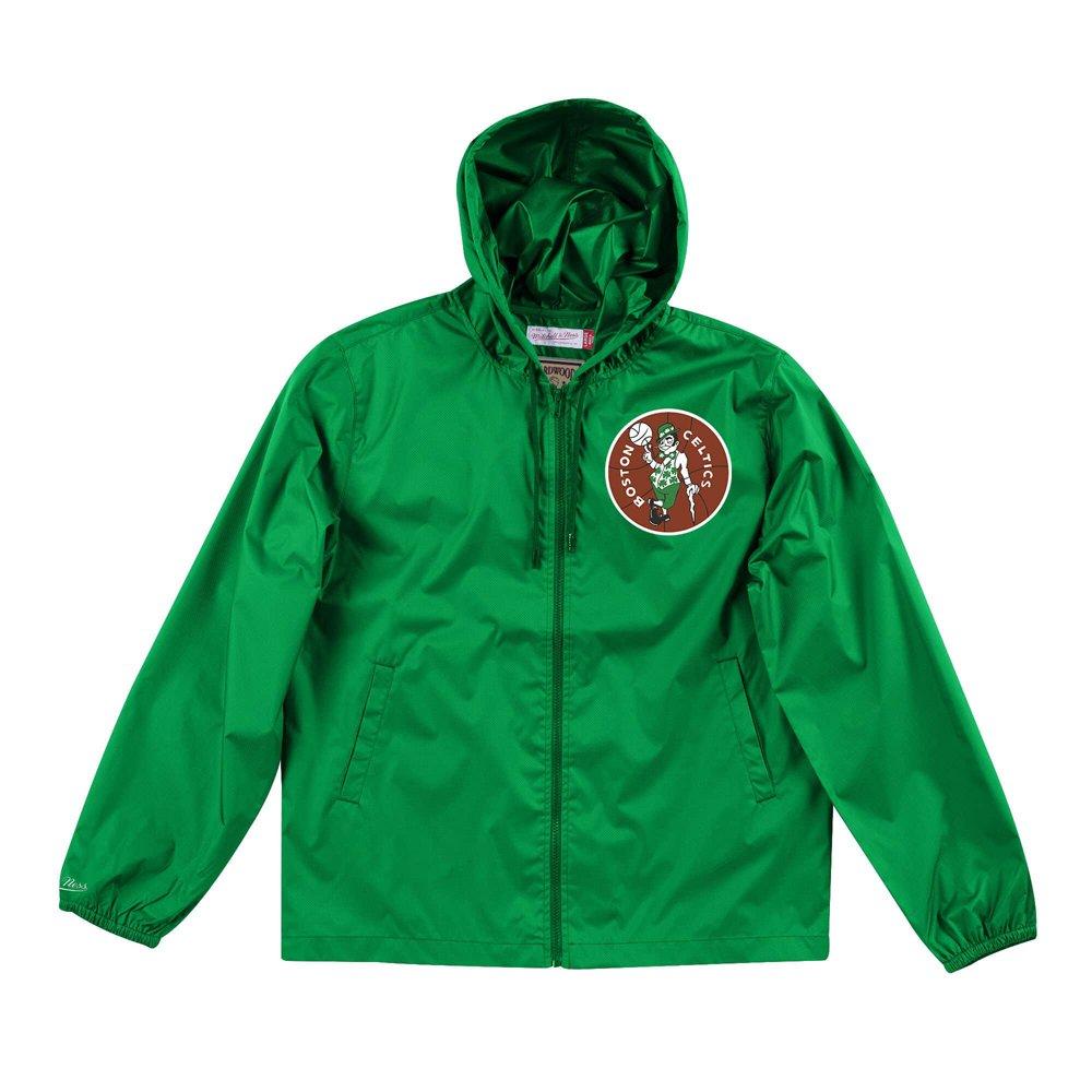mitchell & ness nba boston celtics team captain windbreaker jacket (flzpmg18045-bcekygn)