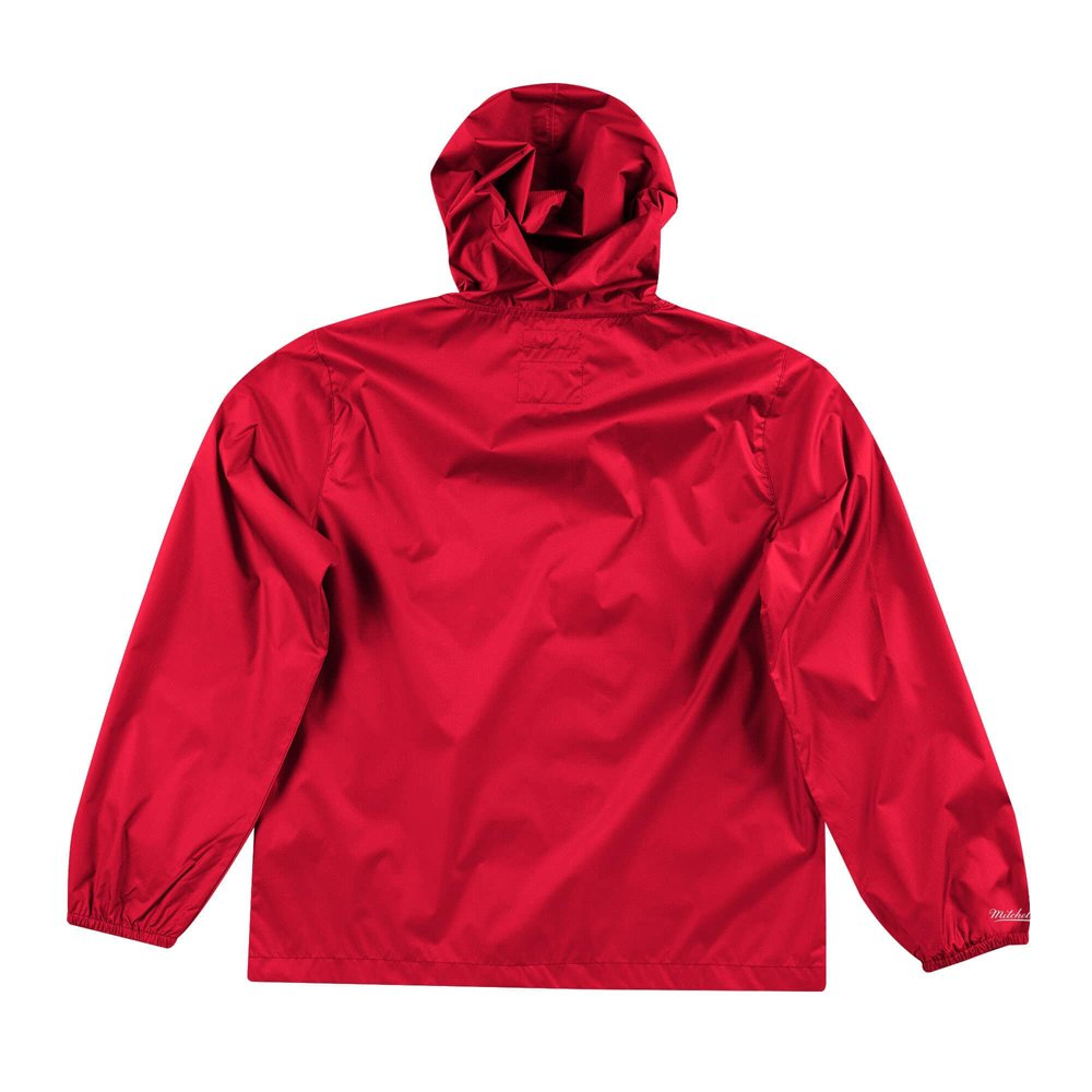 mitchell & ness nba houston rockets team captain windbreaker jacket (flzpmg18045-hroscar)