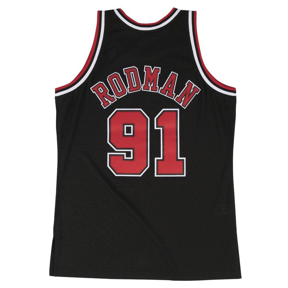 mitchell & ness nba swingman jerseys chicago bulls - dennis rodman #91 (smjygs18152-cbublck9)
