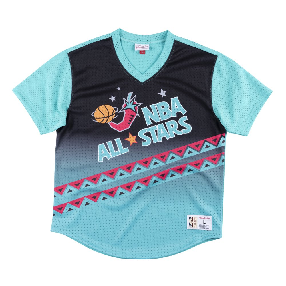 mitchell & ness game winning shot mesh v-neck nba all star (mspomg18044-asgpttl9)