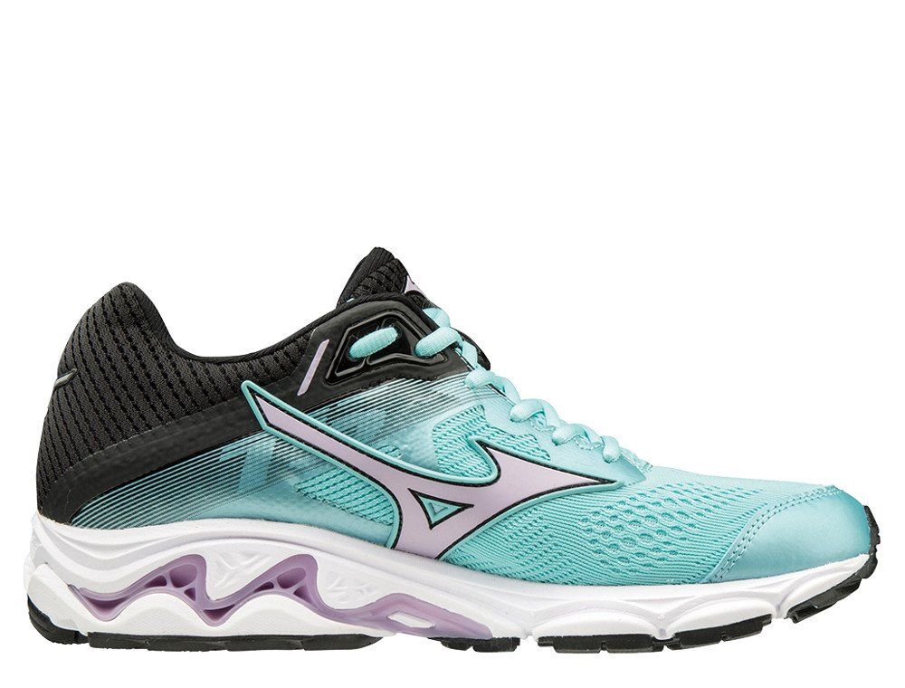 buty mizuno wave inspire 15 green angel blue / lavender frost / black