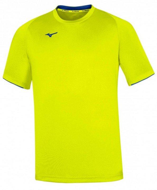 mizuno core short sleeve tee yellow fluo / royal