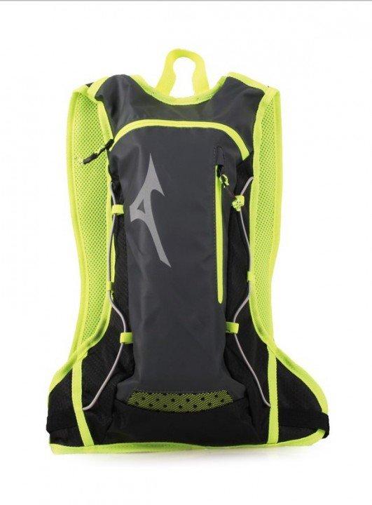 mizuno running backpack grey lime