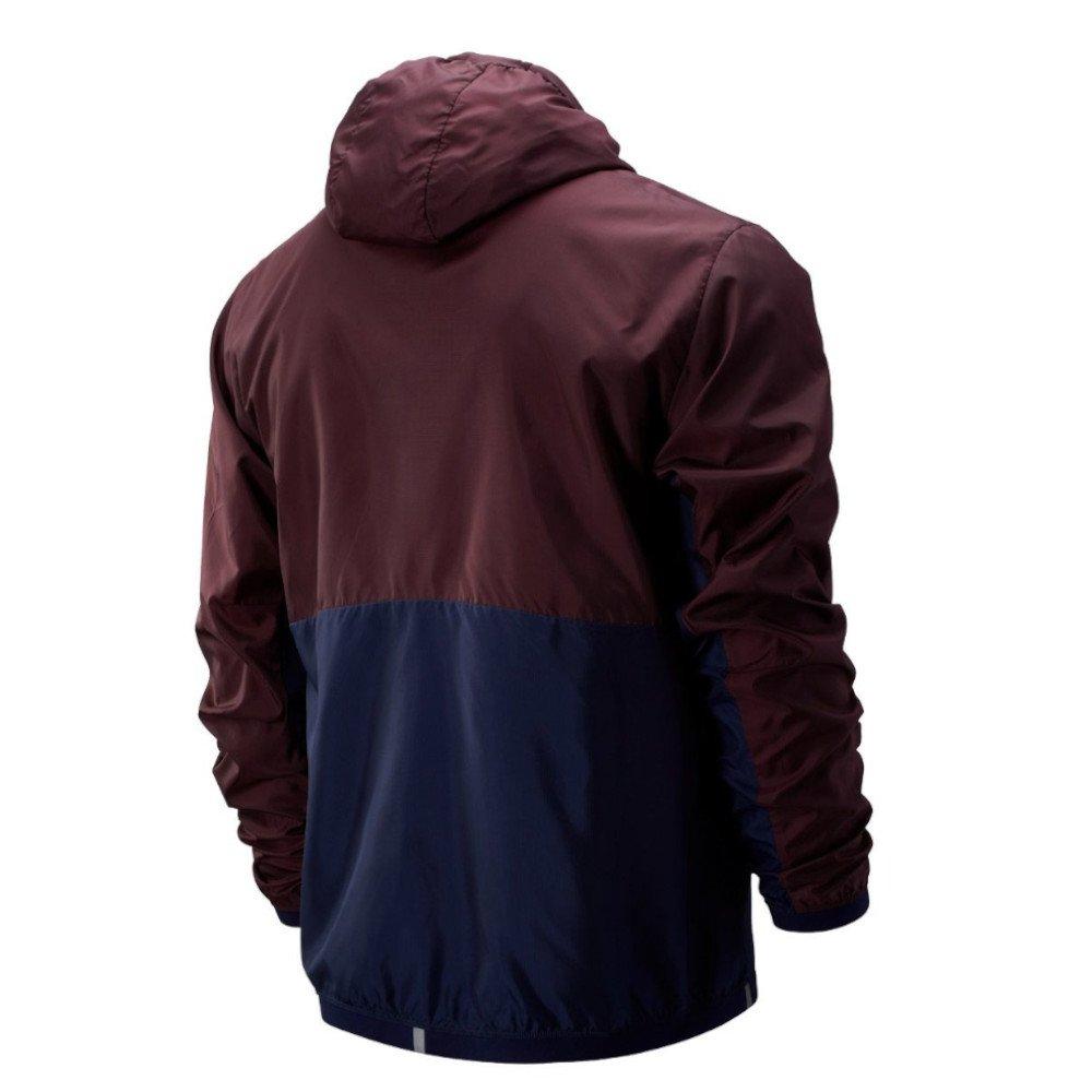 new balance light packjacket bordowo-granatowa