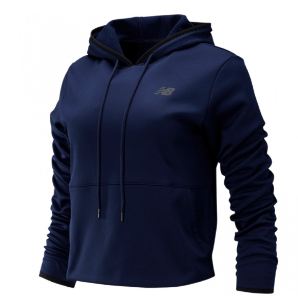 new balance relentless fleece hoodie w granatowa