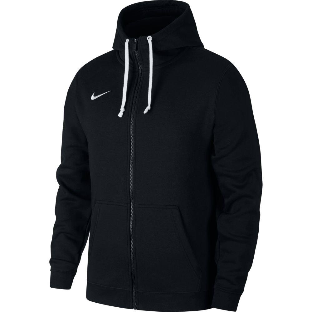 nike team club 19 full zip hoodie czarna