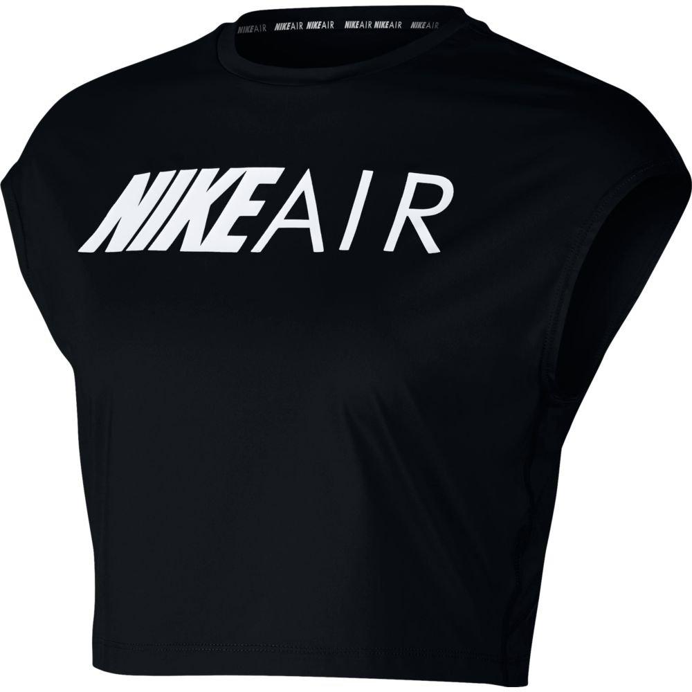 nike air short-sleeve crop top w czarna