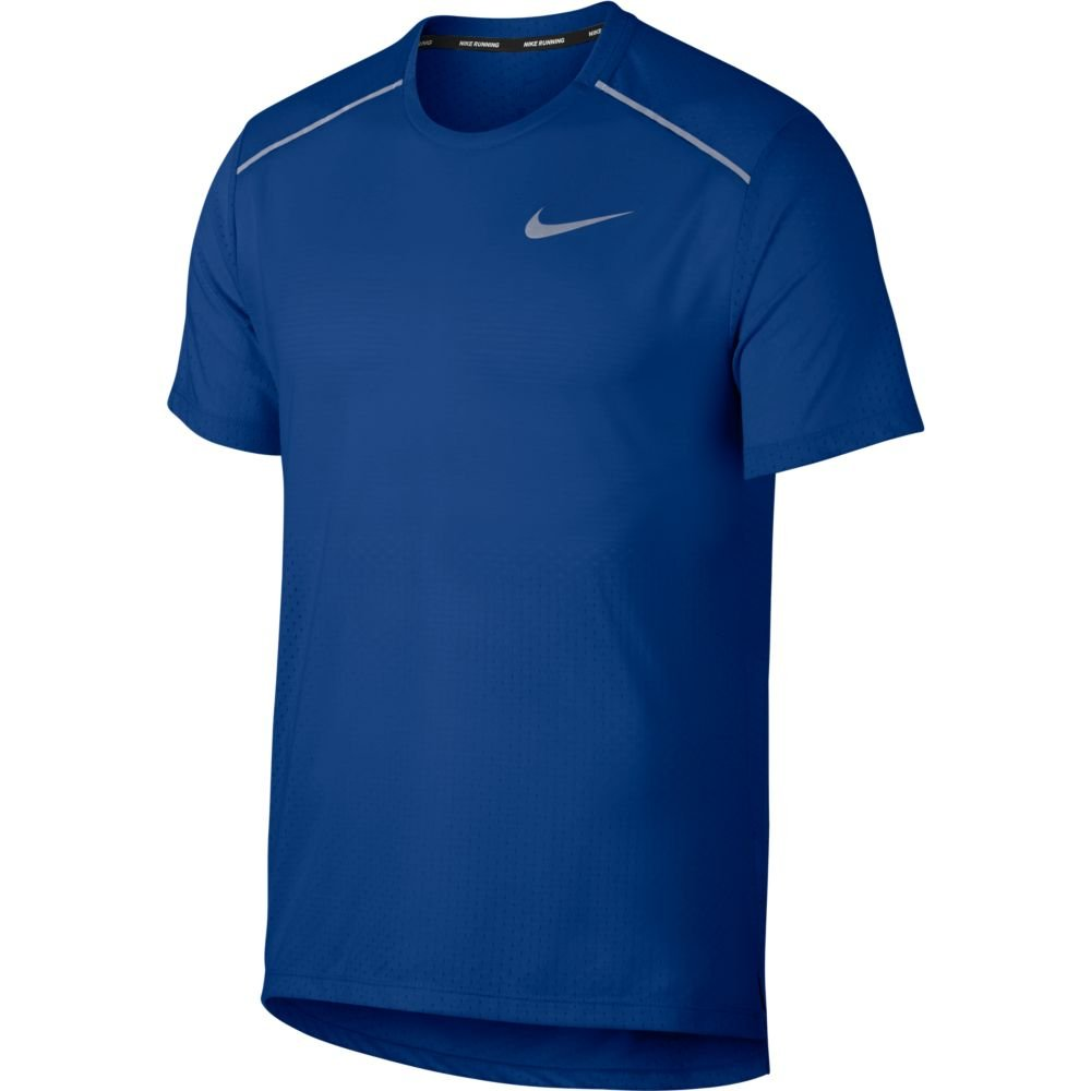 nike rise 365 short-sleeve top m niebieska