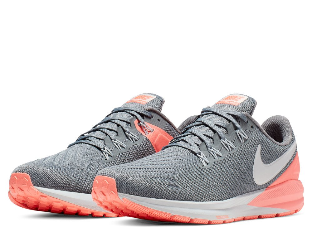 nike air zoom structure 22 w koralowo-grafitowe