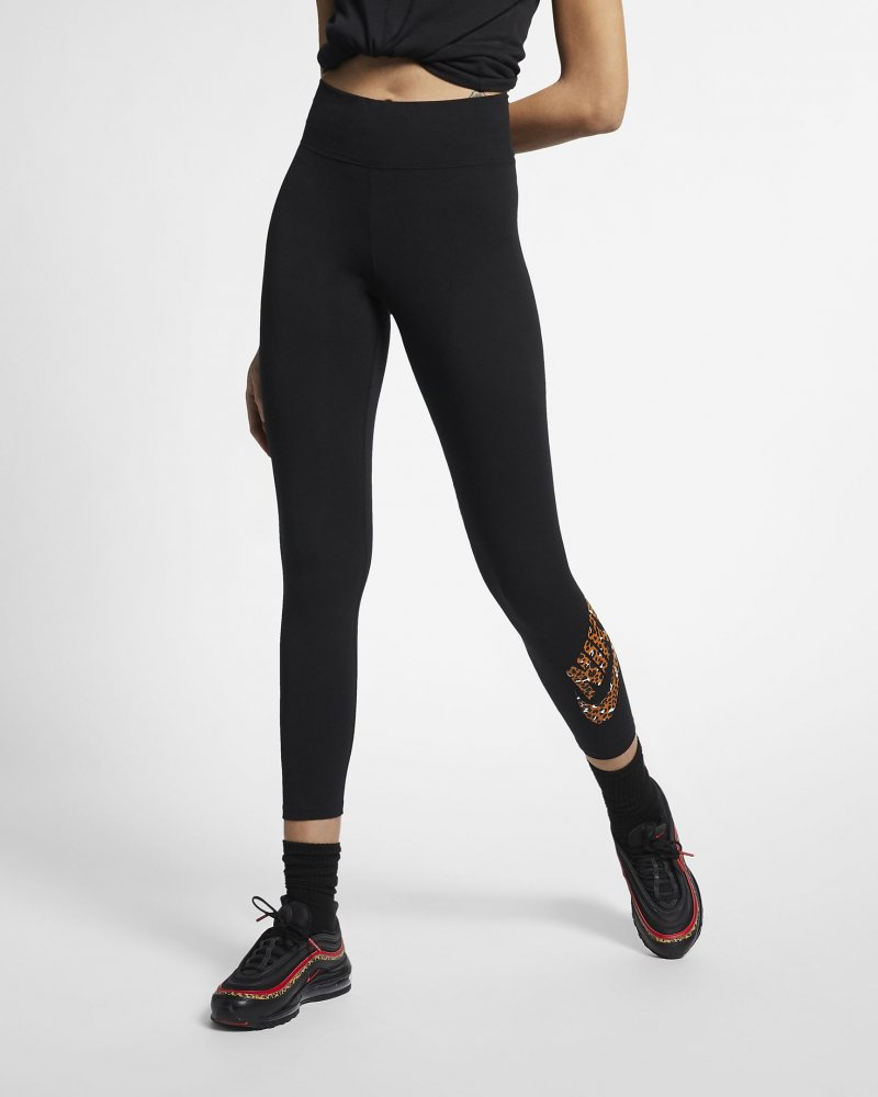 nike wmns sportswear animal print leggins (cd4132-010)