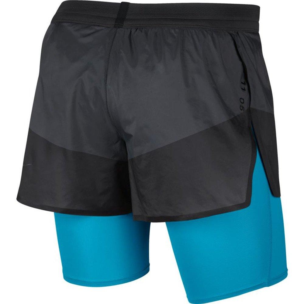 nike tech pack 2-in-1 shorts m połyskliwa-czerń błękitne