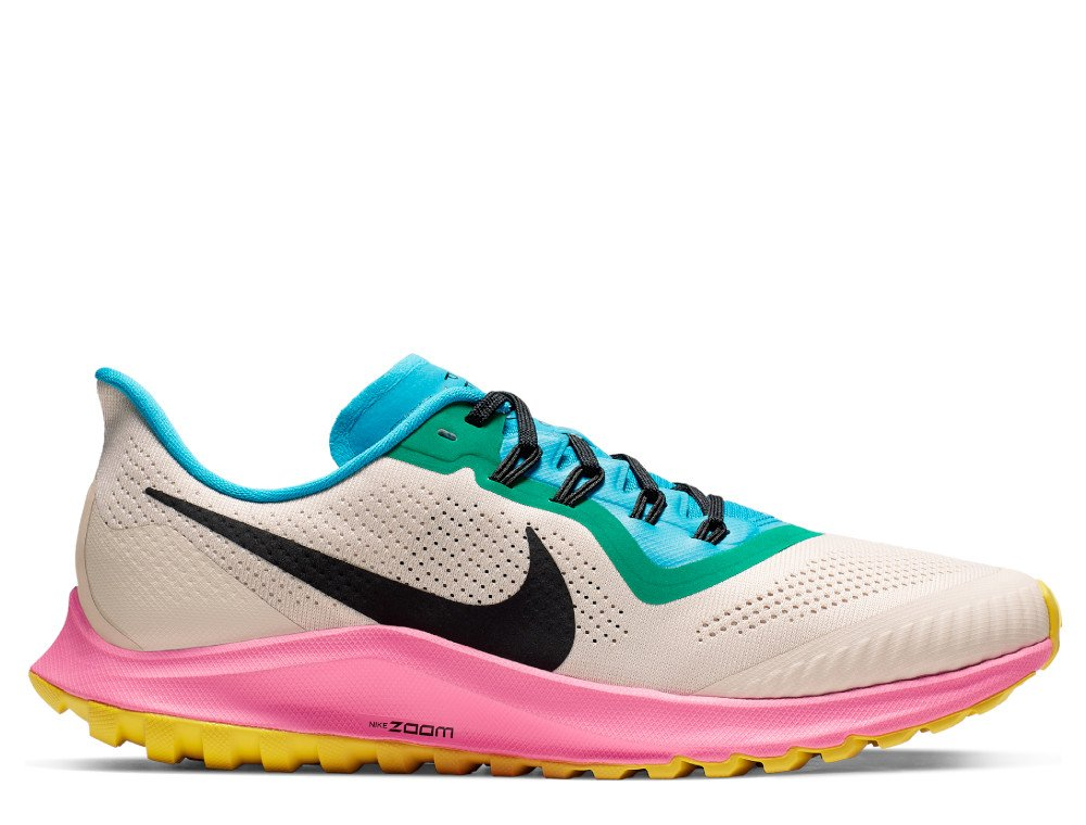 nike air zoom pegasus 36 trail m multikolor-beżowe