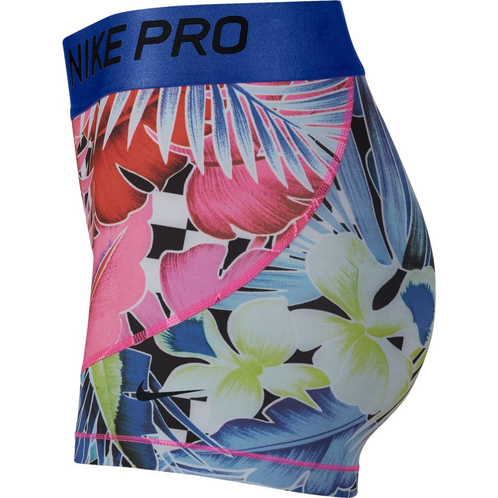 nike pro 8cm printed shorts w multikolor
