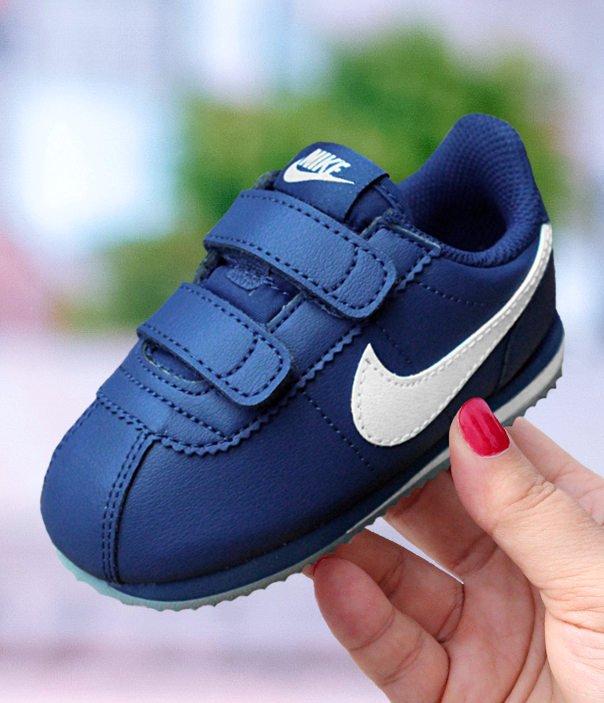 informacje o wersji na Cena fabryczna kup popularne Nike Cortez Basic SL (TDV) niebiesko-białe