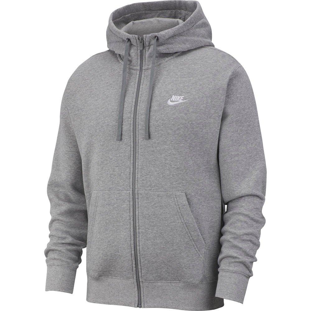 nike nsw club hoodie fz (bv2645-063)