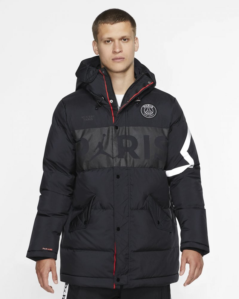 jordan x paris saint-germain down parka (bq8371-010)