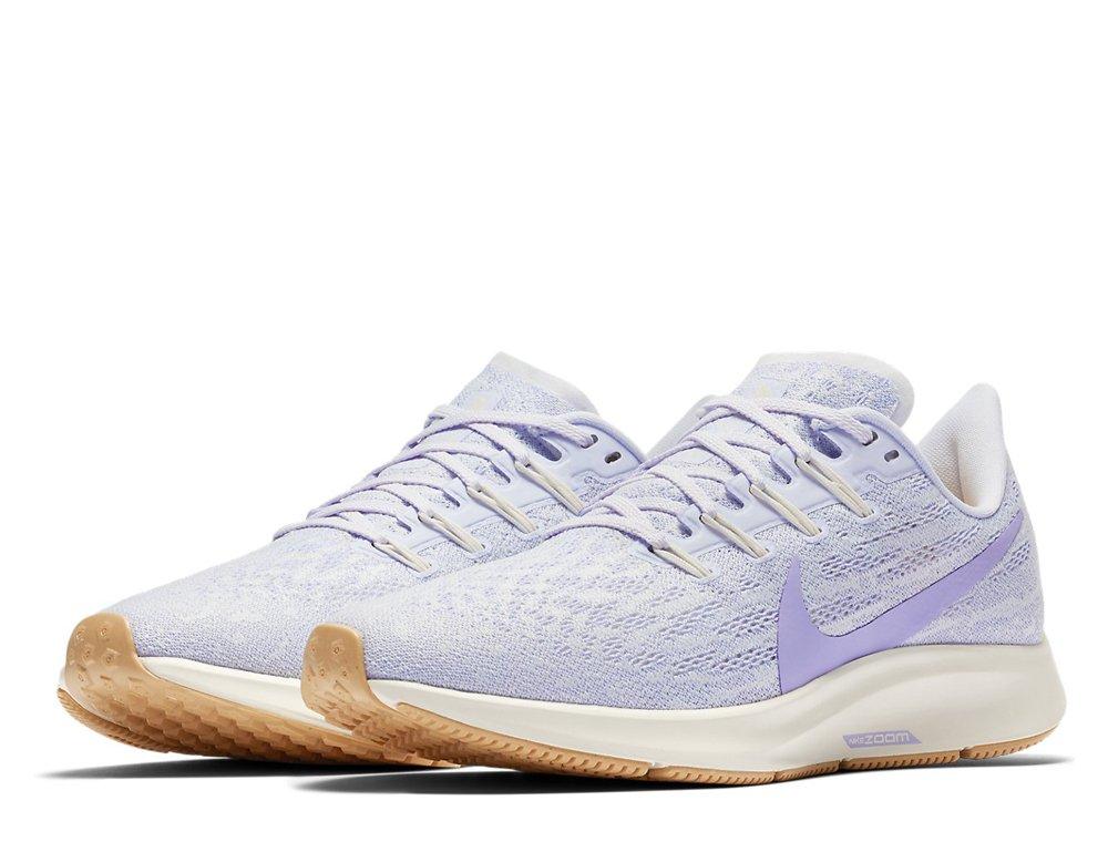 Nike Air Zoom Pegasus 36 W Platynowo Fioletowe